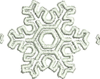 Sale 1.00 off snowflake embroidery design