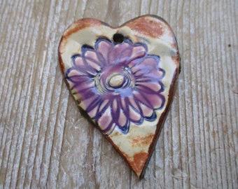 Flower Ceramic Pendant