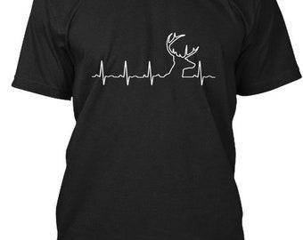 Hunting Heartbeat  Ltd Edition Hanes Tagless Tee Tshirt