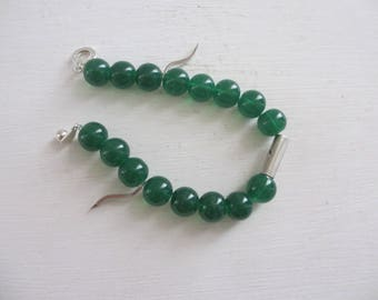 Bracelet green beads and silver spacers...