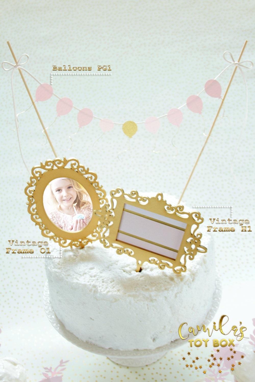 Fine Picture Frame Cake Topper Gallery - Ideas de Marcos ...