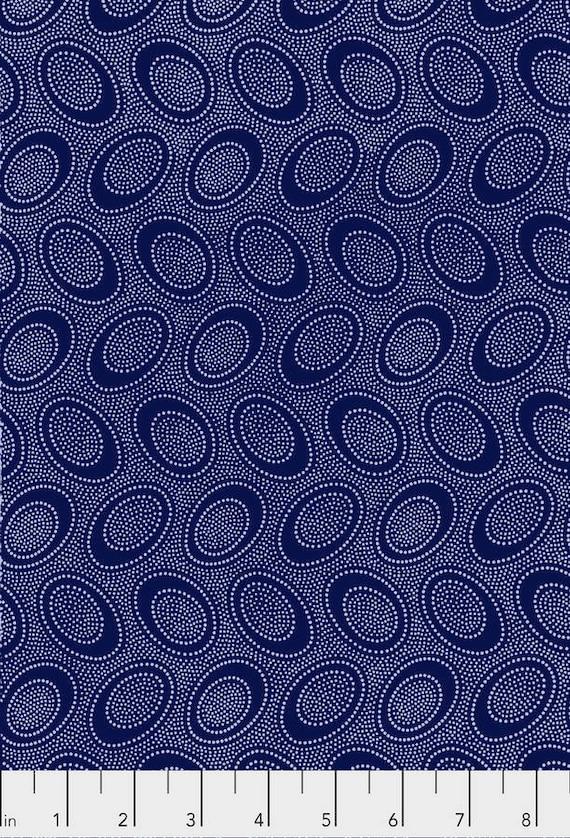 ABORIGINAL DOT Indigo Blue PWGP071.INDIG Kaffe Fassett Collectives Sold in 1/2 yd increments