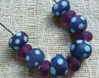 Murano perles/Perles/sra au chalumeau/rétro/denim bleu / pois/gravé/turquoise /