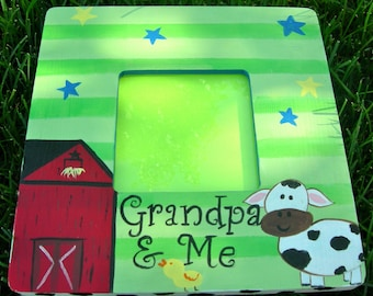 Custom Picture Frame Farm Design Red Black and Green