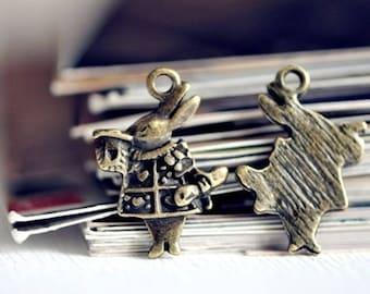 sale 20 rabbit from alice in antique bronze