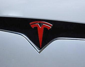 "Tesla Model X FRONT Tesla ""T"" Logo Accent"