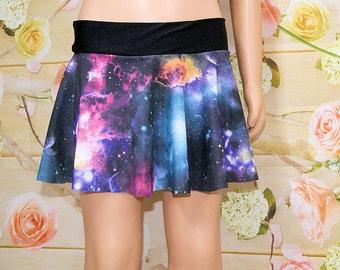 Black Galaxy Nebula Circle Twirl Skirt Child ALL Sizes - MTCoffinz