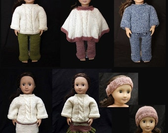 Entire Clothing Set (knitting patterns) for 18 inch Dolls