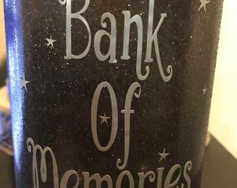 Bank Of Memories Mason Jar in Quart size