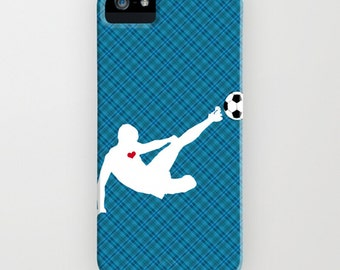 Footballer on Phone Case -    iPhone 6S, iPhone 6 Plus, Samsung Galaxy S7, Sports Gifts, Football gifts, Gifts for him, iPhone 8