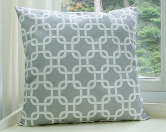 Nautical pillow cover Grey Pillow Decorative Pillow Cover Size Choice Throw Pillow Accent Pillow