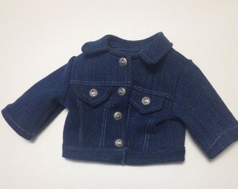 boy doll clothes Denim jean jacket for American boy doll 18 inch denim jacket American made