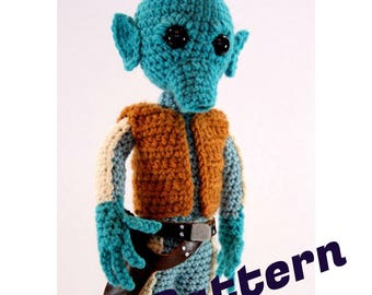 Greedo Star Wars-inspired Amigurumi Monster Crochet doll Pattern