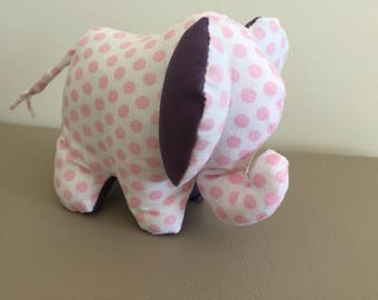 Plush medium elephant bi color pink and purple