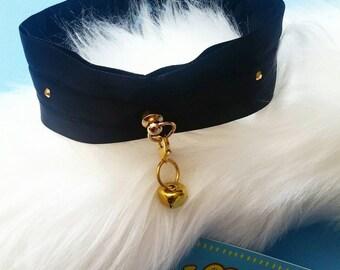 Gold Rhinestone, Kitten Play Gothic Collar Choker