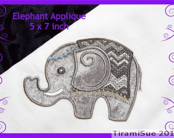 Elephant Applique 5 x 7 inch/130x180mm Machine Embroidery Hoop