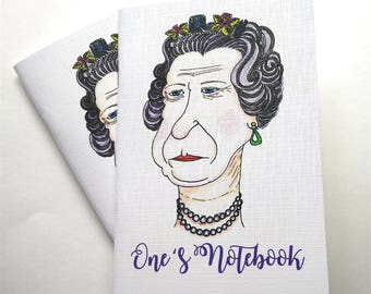 A5 Notebook, 'One's' Design, Blank Pages