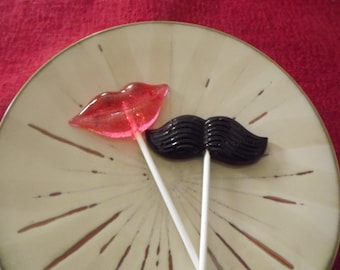 20 Lip And Mustache Lollipops Gender Reveal Baby Shower Party Favor Girl Or Boy Birth