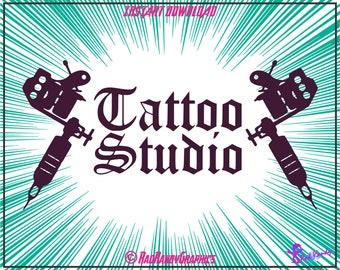 Tattoo Studio, Cut Files, EPS, SVG, Png, Vector