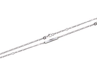 Baby name 15 cm silver curb chain Bracelet