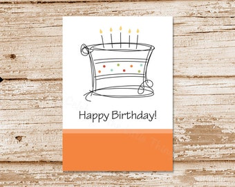 birthday tags . birthday cake tags . PRINTABLE happy birthday tags . stickers, labels . 4 colors included . Instant Download