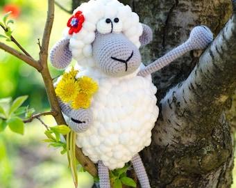 Amigurumi Toy - Crochet Stuffed Animal -Crochet Sheep - Sheep Stuffed Animal - Plush - Amigurumi Lamb - Baby Shower Gift