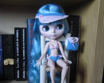 Outfit for Blythe Beach set for Blythe