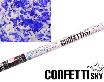 "32"" Blue White Streamer Confetti Cannon | Graduation | Class of 2018 | Patriotic Parade | Party Popper | Wedding Favor"