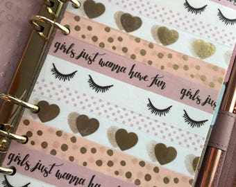 Girls Wanna Have Fun Personal Planner Washi Dashboard
