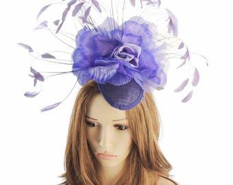 Purple Ascot  Fascinator Ascot Kentucky Derby Proms