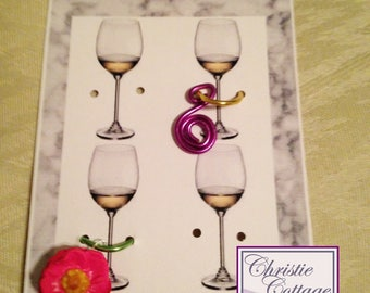Wine Glass Charms Display Card, PDF, Not a finished product