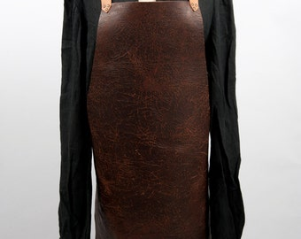 Leather apron fits L up to 2 XL barbeque bbq grill cooking outdoor kitchen larp medieval costume game of thrones blacksmith warcraft design