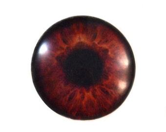 Brown Glass Eye Cabochon 30mm Human Eye for Pendant Jewelry Making or Taxidermy Doll Iris Eyeball Flatback Domed Circle