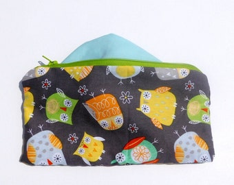 Owl Makeup Bag Best Friend Gift Zipper Pouch Pencil Case Birthday Gift Gift for Her Handmade Wallet Graduation Gift