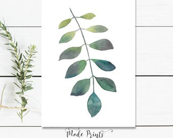 Botanical Print - Botanical Art Leaf Print Botanical Illustration - Botanical Print Set Botanical Poster - Botanical Art Print Leaves Art