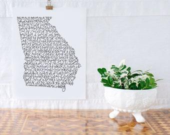 Georgia On My Mind Illustration Print
