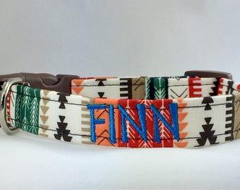 Dog Collar Personalized- Southwest Tribal