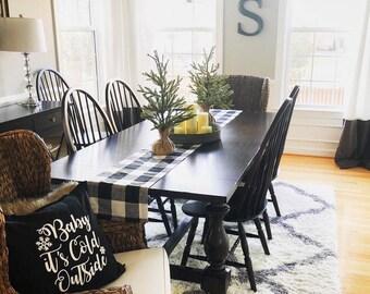 Plaid Table Runner, Buffalo Plaid, Modern Farmhouse Decor, Farmhouse Decor, Table Linens, Placemats, Fall Decor