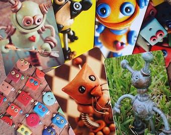 Robot Art Print Postcard SET OF 4 Mystery Assortment