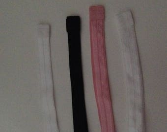 set of 7 elastic headband stretch color as picture