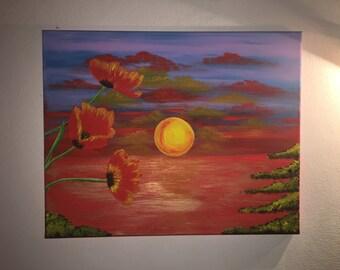 Canvas Acrylic Summer