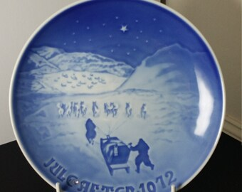 Vintage Bing & Grondahl Christmas Collectible Plate Jule After 1972 ( Christmas in Greenland)