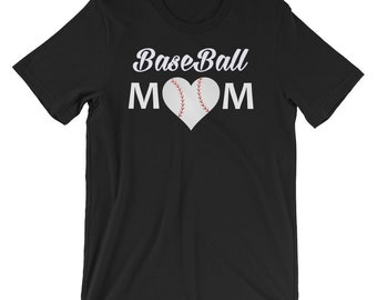 Baseball mom shirt - Baseball mom apparel - baseball heart - baseball mom clothing - baseball mom tshirt - baseball mom shirts - momlife