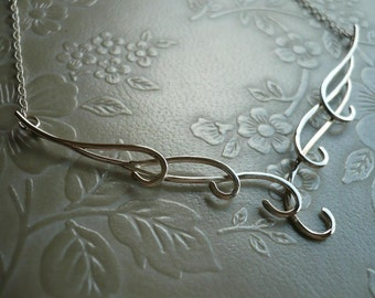 Waves Necklace two in Sterling Silver - by Kirsty O'Donnell