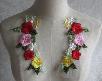 18.4x9.2cm Stunning lace embroidery Flower Lace Collar clothing accessories dress making