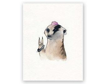 Meerkat You Rock - Thank You Card