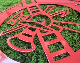 Firefighter Emblem,Fireman,Firefighter Gift, Fireman Gift - Sign - Logo - Metal