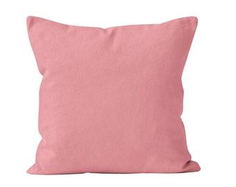 Bubblegum Pink Pillow Cover, Dusty Rose Pillow Cover, Bubble Gum Toss Pillow Cover Cushion Cover, Pink Throw Pillow Cover 18x18 _M