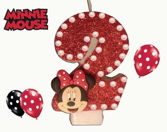 Minnie Mouse Candle (FREE DELIVERY on 2nd item)