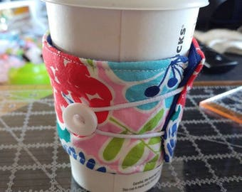 Reusable coffee sleeve , coffee cozy